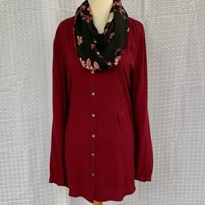 J. Jill Bib Tunic and Infinity Scarf Set